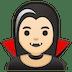 🧛🏻♀️ woman vampire: light skin tone Emoji on Google Platform