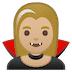 🧛🏼‍♀️ woman vampire: medium-light skin tone Emoji on Google Platform
