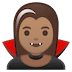 🧛🏽‍♀️ woman vampire: medium skin tone Emoji on Google Platform