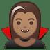 🧛🏽♀️ woman vampire: medium skin tone Emoji on Google Platform