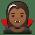 🧛🏾♀️ woman vampire: medium-dark skin tone Emoji on Google Platform