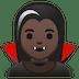 🧛🏿♀️ woman vampire: dark skin tone Emoji on Google Platform