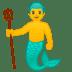🧜♂️ merman Emoji on Google Platform
