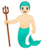 🧜🏻‍♂️ merman: light skin tone Emoji on Google Platform