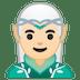 🧝🏻♂️ man elf: light skin tone Emoji on Google Platform