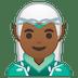 🧝🏾♂️ man elf: medium-dark skin tone Emoji on Google Platform