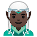 🧝🏿‍♂️ man elf: dark skin tone Emoji on Google Platform