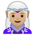 🧝🏼♀️ woman elf: medium-light skin tone Emoji on Google Platform
