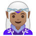 🧝🏽‍♀️ woman elf: medium skin tone Emoji on Google Platform
