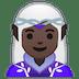 🧝🏿♀️ Dark Skin Tone Female Elf Emoji on Google Platform