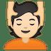 💆🏻 person getting massage: light skin tone Emoji on Google Platform