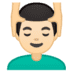 💆🏻‍♂️ man getting massage: light skin tone Emoji on Google Platform