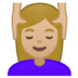 💆🏼‍♀️ woman getting massage: medium-light skin tone Emoji on Google Platform