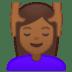 💆🏾♀️ woman getting massage: medium-dark skin tone Emoji on Google Platform
