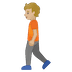 🚶🏼 person walking: medium-light skin tone Emoji on Google Platform