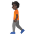 🚶🏿 person walking: dark skin tone Emoji on Google Platform