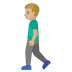 🚶🏼‍♂️ man walking: medium-light skin tone Emoji on Google Platform