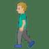 🚶🏼♂️ man walking: medium-light skin tone Emoji on Google Platform