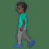🚶🏿♂️ man walking: dark skin tone Emoji on Google Platform