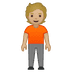 🧍🏼 person standing: medium-light skin tone Emoji on Google Platform