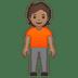 🧍🏽 person standing: medium skin tone Emoji on Google Platform