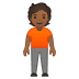 🧍🏾 person standing: medium-dark skin tone Emoji on Google Platform