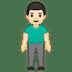 🧍🏻♂️ man standing: light skin tone Emoji on Google Platform