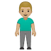 🧍🏼‍♂️ man standing: medium-light skin tone Emoji on Google Platform