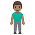 🧍🏽‍♂️ man standing: medium skin tone Emoji on Google Platform