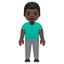 🧍🏿♂️ man standing: dark skin tone Emoji on Google Platform