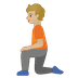 🧎🏼 person kneeling: medium-light skin tone Emoji on Google Platform