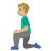 🧎🏼‍♂️ man kneeling: medium-light skin tone Emoji on Google Platform