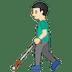 👨🏻🦯 man with probing cane: light skin tone Emoji on Google Platform