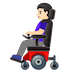 👩🏻‍🦼 Light Skin Tone Woman In Motorized Wheelchair Emoji on Google Platform