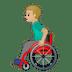👨🏼🦽 Medium Light Skin Tone Man In Manual Wheelchair Emoji on Google Platform