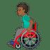 👨🏾🦽 man in manual wheelchair: medium-dark skin tone Emoji on Google Platform