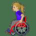 👩🏼🦽 woman in manual wheelchair: medium-light skin tone Emoji on Google Platform
