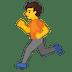 🏃 Person Running Emoji on Google Platform