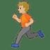 🏃🏼 Medium Light Skin Tone Person Running Emoji on Google Platform