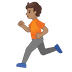 🏃🏽 person running: medium skin tone Emoji on Google Platform