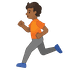 🏃🏾 person running: medium-dark skin tone Emoji on Google Platform