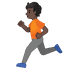 🏃🏿 person running: dark skin tone Emoji on Google Platform