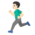 🏃🏻‍♂️ man running: light skin tone Emoji on Google Platform