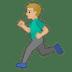 🏃🏼♂️ man running: medium-light skin tone Emoji on Google Platform