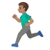 🏃🏽♂️ man running: medium skin tone Emoji on Google Platform