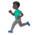 🏃🏿‍♂️ man running: dark skin tone Emoji on Google Platform