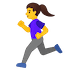 🏃‍♀️ woman running Emoji on Google Platform