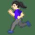🏃🏻♀️ woman running: light skin tone Emoji on Google Platform