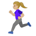 🏃🏼‍♀️ woman running: medium-light skin tone Emoji on Google Platform