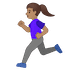 🏃🏽‍♀️ woman running: medium skin tone Emoji on Google Platform